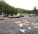 В Центральном парке начали строить скейтпарк