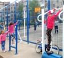 В Скуратово открылась спортплощадка с турниками