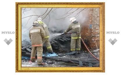 В Тульской области сгорел кирпичный дом