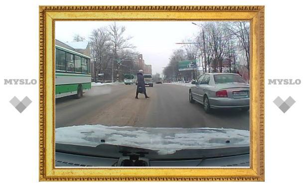 Пешеходов в Туле пропускать не положено?