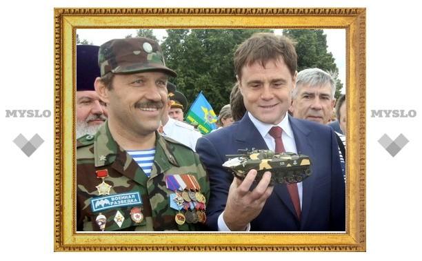 Тульскому губернатору подарили танк