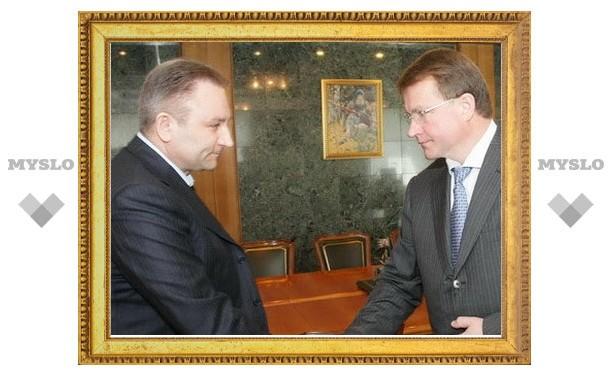 Тульский губернатор встретился с секретарем регионального политсовета партии «Единая Россия»