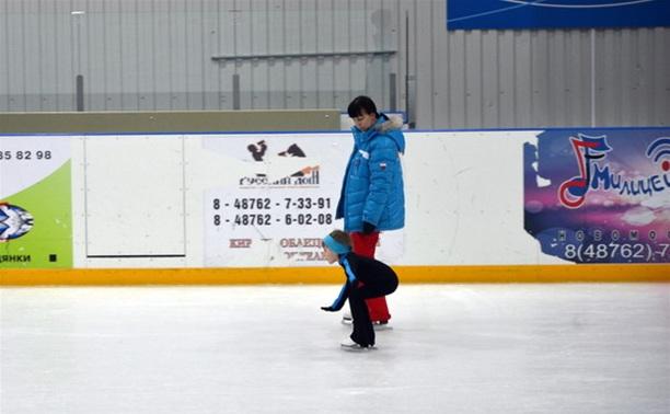 Юные новомосковские фигуристы продемонстрировали свое мастерство
