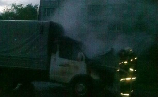 Ночью 7 июня в Одоеве сгорела грузовая «Газель»