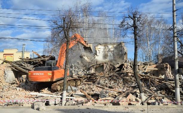 Развалившийся дом на ул. Октябрьской снесли