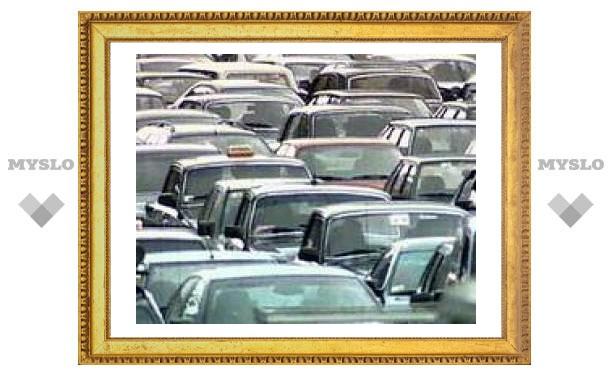 В Туле пробки сразу в трех районах