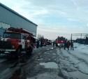 В Туле на Новомосковском шоссе сгорел склад