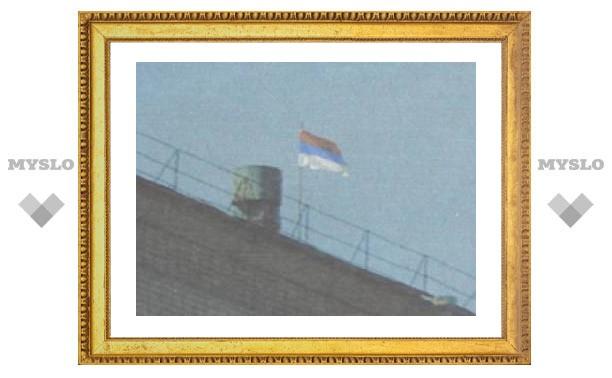 Над Белевской администрацией висит перевернутый флаг