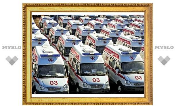 Автопарк тульских больниц пополнится на 100 новых машин скорой помощи