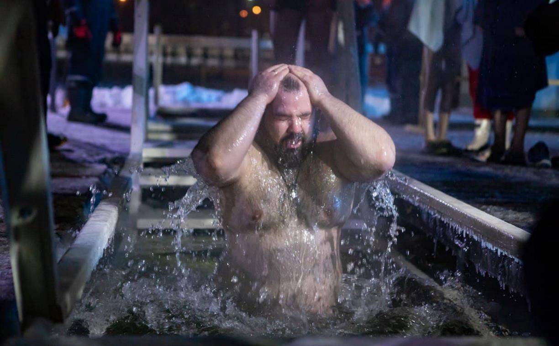 Крещенские купания в Центральном парке Тулы: большой фоторепортаж
