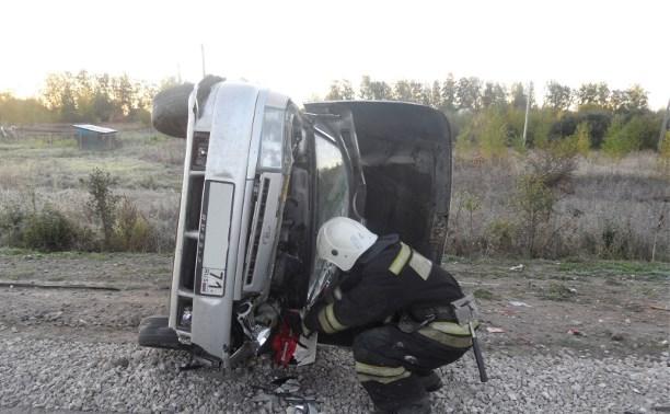 В Туле 18-летний парень пострадал в перевернувшейся  «Ладе»