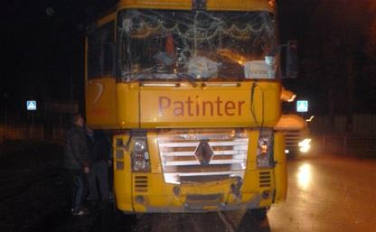 В Чернском районе столкнулись три грузовых автомобиля