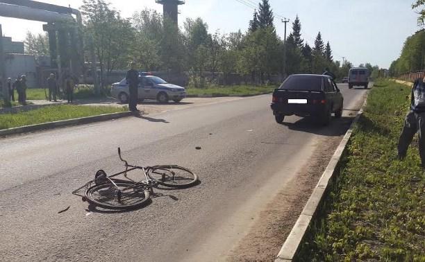 В Алексине водитель «Форда» сбил велосипедиста