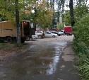 В Туле улицу Калинина заливает кипятком