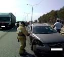 В Узловском районе столкнулись Kia Ceed и грузовой Mercedes
