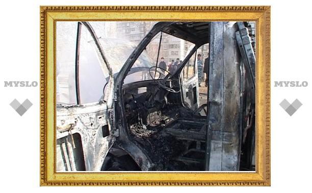 Под Тулой сгорела грузовая ГАЗель