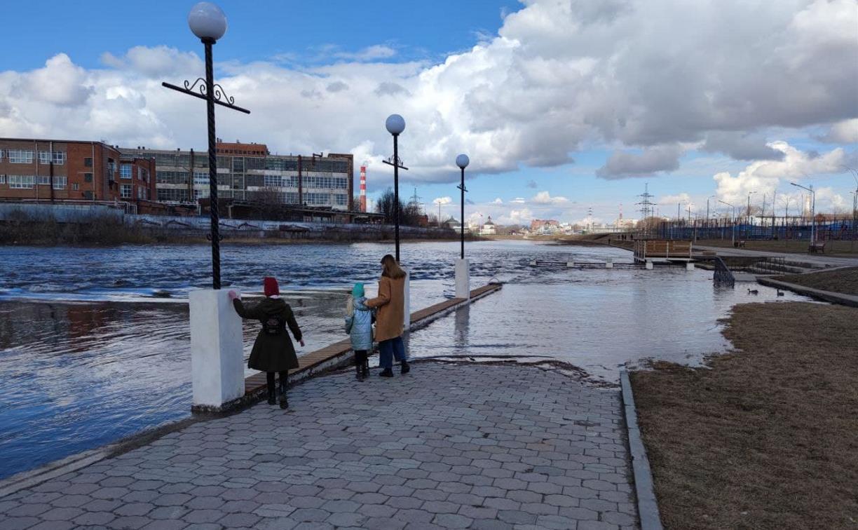 В Туле за двое суток уровень воды в Упе поднялся на 120 сантиметров
