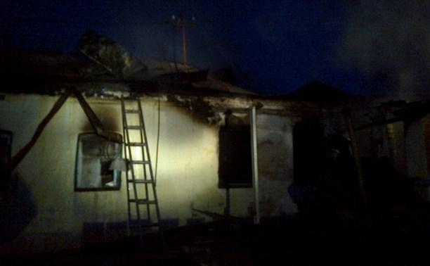 В Куркинском районе огонь уничтожил дачный дом