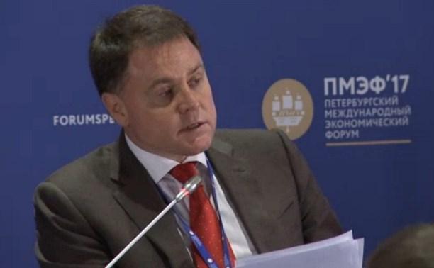 Владимир Груздев выступил на Петербургском экономическом форуме