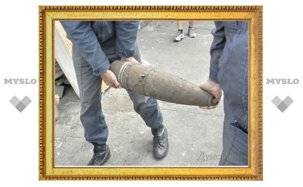 Житель Тульской области нашел артиллерийский снаряд