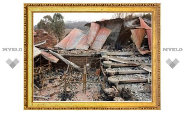 В Тульской области по неизвестной причине сгорел жилой дом