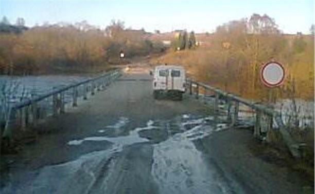 В Белёвском районе затопило мост