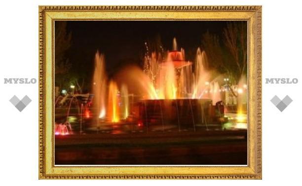Кадыров открыл в Грозном фонтан имени Путина