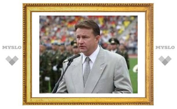 Губернатор Тульской области В. Д. Дудка вступил в партию