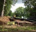 В Центральном парке Тулы ремонтируют водовод