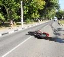 В Туле на ул. Токарева опрокинулся мотоциклист
