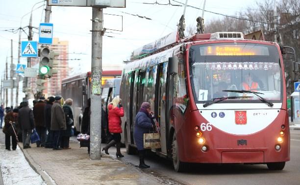 Из-за потопа в Туле прекращают ходить троллейбусы