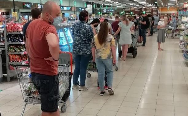 В Туле за нарушения противоковидных мер могут закрыть гипермаркет «Глобус»