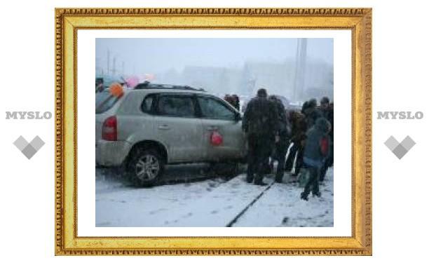 В Туле произошло курьезное ДТП