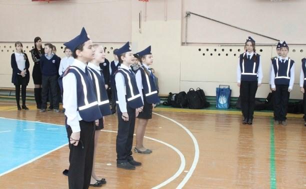 В ряды юных инспекторов движения приняли пятиклассников из центра образования №24