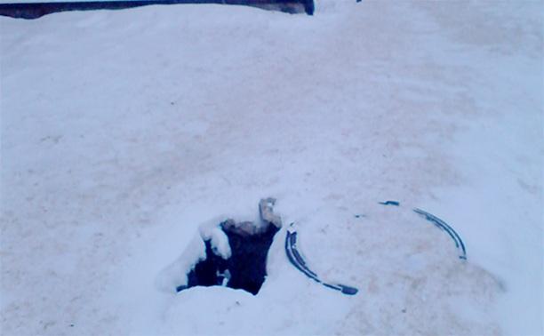 В Узловой обнаружена яма-убийца!