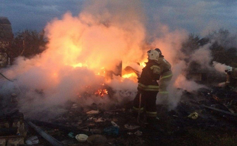 В Заокском районе дотла сгорела дача