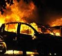Под Чернью прямо на дороге сгорел автомобиль
