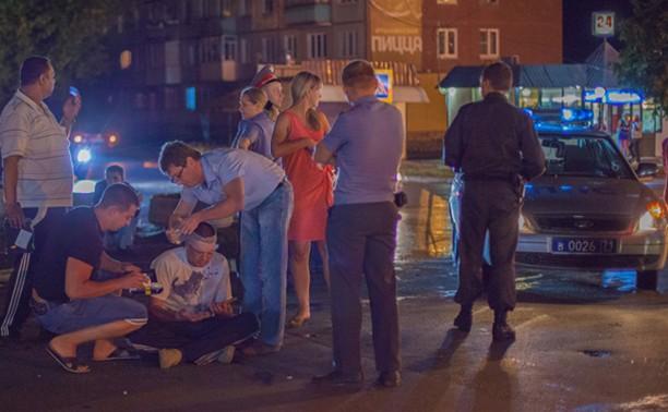 Ночью в Туле иномарка сбила человека