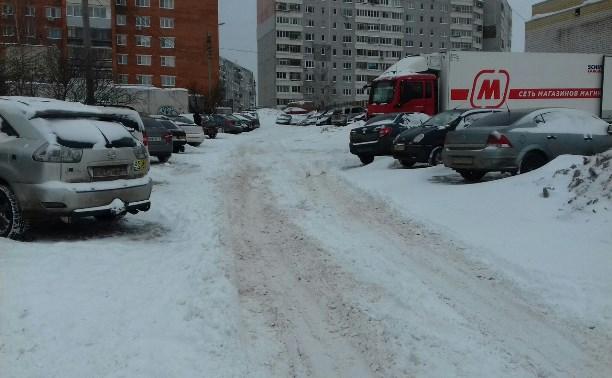 Туляки жалуются на нечищеные дороги и дворы