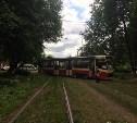 В Туле на ул. Кирова трамвай сошел с рельсов