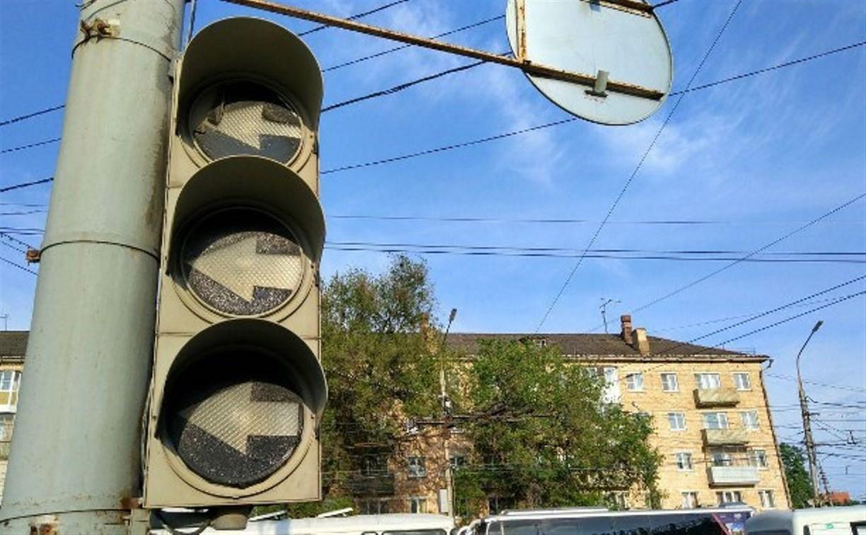 В среду в центре Тулы отключат три светофора