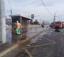В Туле дезинфицируют дороги, тротуары, остановки и парковки