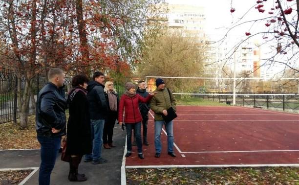 В тульском лицее № 2 появилась спортивная площадка