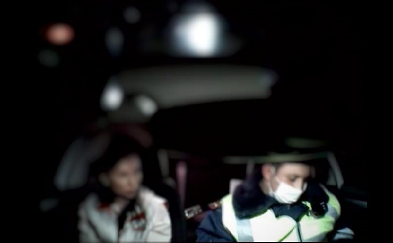 В Туле сотрудники ДПС поймали на дороге пьяную мать с двумя детьми