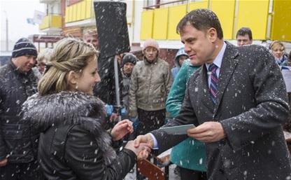Груздев вручил ключи от социального жилья в Богородицке