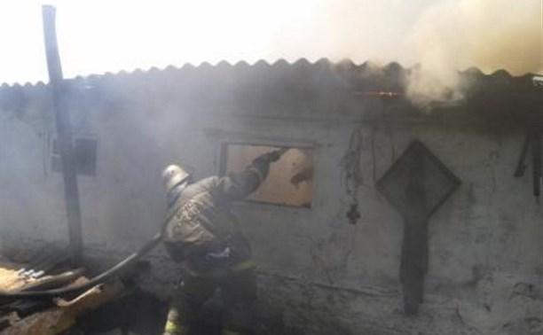 Утром 4 июля в Кимовском районе сгорел дом