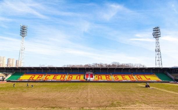 На ремонт футбольного поля стадиона «Арсенал» выделено 17 миллионов рублей