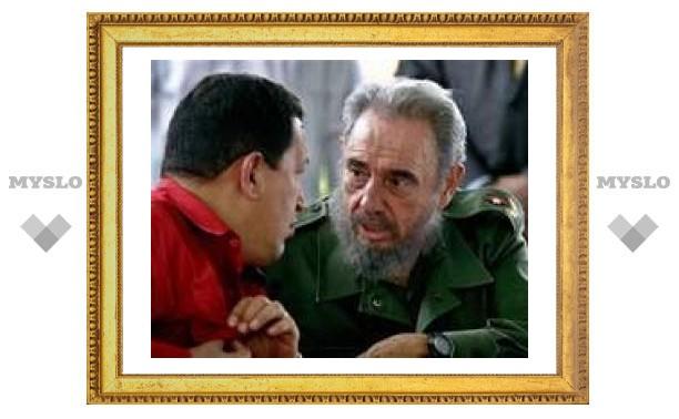 Чавес неожиданно навестил Кастро на Кубе
