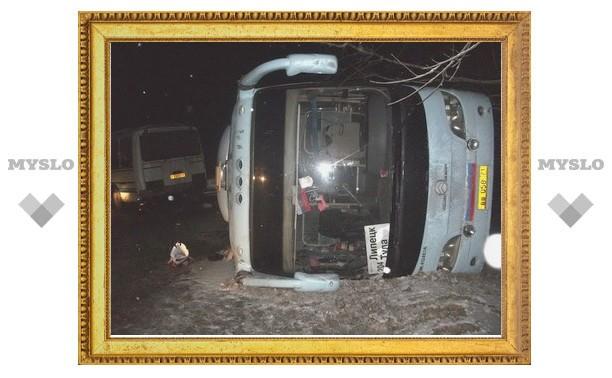 В Тульской области столкнулись два пассажирских автобуса