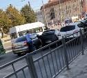 На улице Советской в Туле столкнулись три автомобиля
